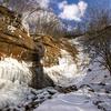 赤城 氷瀑の小滝と茶ノ木畑峠