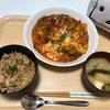鯖の混ぜご飯&トマトチーズ