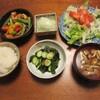 小エビと野菜の八丁味噌炒め
