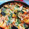 生鮭とクリームチーズのオープンオムレツ(動画レシピ)/Omelet with Salmon and Cream cheese.