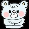 腕を組むクマのイラスト