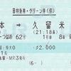 リレーつばめ62号 B特急券・グリーン券(個)