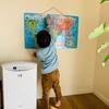遊びながら学べる!英語版世界地図マグネットパズルは3歳児のプレゼントに最適でした。