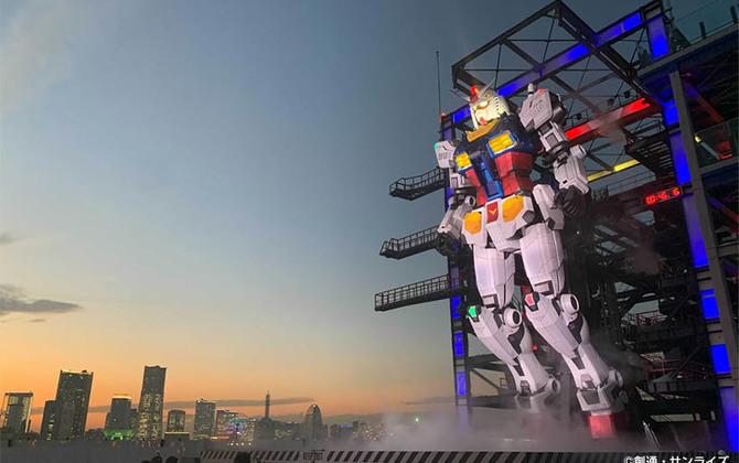 "It Moves! 18-meter ""Moving Gundam"" Robot Revealed in Yokohama with Virtual Cockpit Powered by SoftBank 5G"