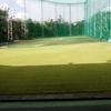 早朝のゴルフ練習場