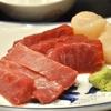 豊洲の「米花」でカリフラワーとベーコンのクリーム煮、まぐろと帆立の刺し盛り。