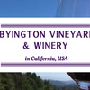 シリコンバレーにあるワイナリーツアーが楽しいByington Vineyard & Winery