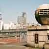 両国橋はいけないわ・rolleiflex SL35 w/ pancolar 1,8/50 fuji cn200
