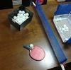 長男の卓球練習用にダイニングテーブルを卓球台に変身!100均の材料で手作りしました!