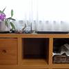 奥行きのあるボックス家具に綺麗に収納する工夫