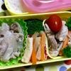 本日のヨメさん弁当【2019.03.13】〜豚丼の具・ポークソテー・大根と人参の炊いたん〜