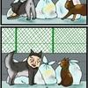 『ほら、ここにも猫』・第252話「人面犬」(Human face dog)