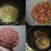 椎茸の肉詰めトマトソース煮込み