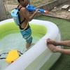 【庭で水遊び&流しそうめん】