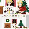 クリスマスカードとクリスマス部屋