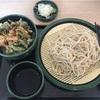 ゆで太郎の帆立と春菊のかきあげ丼セット