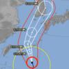台風9号接近中