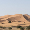 バスで夜、メルズーガ到着 サハラ砂漠の中のホテルで昼寝中