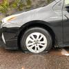 吉野の山奥でタイヤがパンク!スペアタイヤはないし!ケータイは圏外だし!困った。