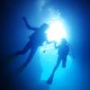 ♪美女は青の洞窟のシルエットもより美しくみえる…♪〜沖縄・恩納村ダイビング〜