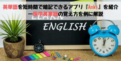 【受験生向け】英単語を短時間で暗記できるアプリ『Anki』を紹介ー医学英単語の覚え方を例に解説