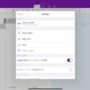 OneNote for iPad バージョン16.52 で部分的に英語になった