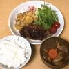 今日もいい時間に晩御飯。今日は「トンカツ&豚汁赤だしバージョン」