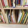 """絵本が沢山あって収納に困ってる人におすすめ!""""図書館方式""""で綺麗をキープ!"""
