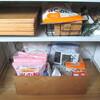 キッチンの棚の片付けと、ストック品の収納