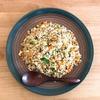【レシピ】豆腐でカサマシ高タンパク!野菜ときのこの和風チャーハン