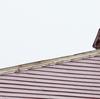 台風で屋根のカバー(棟包み?)が飛ばされていたらしい!!