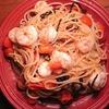 【レシピ】所要時間10分!超簡単トマト塩昆布エビパスタ