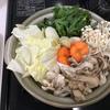 「博多水炊きスープ」の素でお鍋しました。