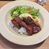 🚩外食日記(88)    宮崎ランチ       🆕「肉バル&ダイニング PARADISO(パラディソ)」より、【牛サガリのステーキ丼】‼️
