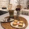 新村にあるかわいらしいカフェ카페 비멜로우(cafe be mellow)