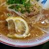 あごだしラーメンも名物の寿司屋 三郎寿司のラーメン寿司5貫セット(1100円)