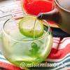 氷出し緑茶でレモンティー