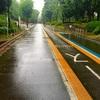 雨の中の20キロ走