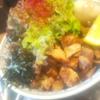 湯の台食堂 由利牛脂の油そば チャーシュー飯