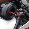 GPZ400Rいじり:休憩中ってバイクのヘルメットはどうしてるの?盗難および落下防止のダイヤル式ワイヤーロック