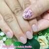 可愛さレベルアップ♡「ネイルブック」にも掲載されたピンクビジューネイル☆ジェル