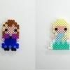 【アイロンビーズ】ディズニープリンセスより、アナ&エルサ(アナと雪の女王)
