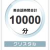 小学生、DMM英会話を始めて5ヶ月で10000分(400回)達成しました!