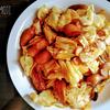 キャベツとキノコのコチュジャンスパゲッティ