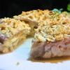 豚薄切り肉と野菜とチーズのミルフィーユ、カツ風