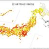 東京都心は15時現在で最高気温31.0℃と10日連続の真夏日に!!7月上旬までに10日連続は記録残る約140年でも初めてのこと!!