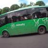 カザフスタン旅行[07]  トランジット(2019年5月) アルマトイの様子;空港から市中心部へ