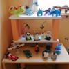 残り物端材&残り物ペンキで子供の趣味棚をDIY!