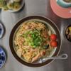 6/19(金)鮭スパゲティ、寿司