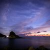 【天体撮影記 第148夜】 長崎県 雀島と軍艦島 夕焼けと天の川風景